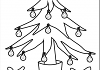 Christmas Colouring Pages Tree With Ornaments Archives Codraw Co