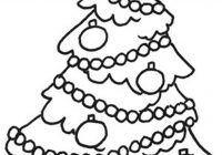 Christmas Colouring Pages Tree With Sheet Only Coloring Pinterest