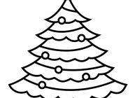 Christmas Colouring Pages Tree With Xmas Stuff For Page Outline Clip Art Library