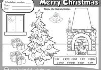 CHRISTMAS COLOURING WORKSHEET (B&W VERSION) | CHRISTMAS COLOURING ..