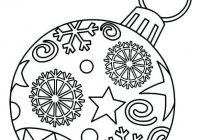 christmas decorations coloring pages decorated xmas tree coloring ..