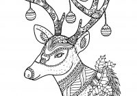 Christmas Deer Coloring Pages With Best Of Reindeer Page To Color Download