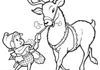 Christmas Deer Coloring Pages With Line Art Elf Reindeer The Graphics Fairy