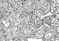 Christmas Doodle Coloring Pages With For Adults Printable To Print Free