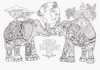 Christmas Elephant Coloring Pages With 12 Days Of World Day Elephants