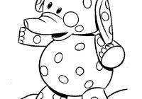Christmas Elephant Coloring Pages With Clown Circus