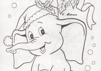 Christmas Elephant Coloring Pages With Embroidery Pretty Digital Stamps Pinterest