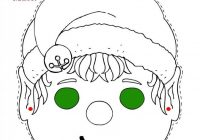 Christmas Elf Mask Printable Coloring Page. More fun activities and ..