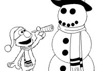 Christmas Elmo Coloring Pages With Print Download For Children S Home Activity
