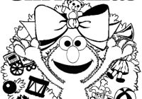 Christmas Elmo Coloring Pages With Sesame Street Merry Page New