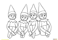 Christmas Elves Coloring Pages To Print With Elf Printable