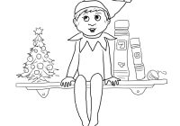 Christmas Elves Coloring Pages To Print With Elf Printable Free Books