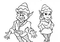 Christmas Elves Coloring Pages To Print With Printable Elf Free Download And On The
