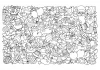 Christmas For Coloring Pages With Adults Best Kids
