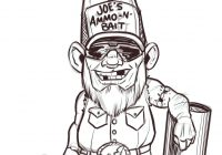 Christmas Gnome Coloring Page With Redneck Pages Fancy Printable