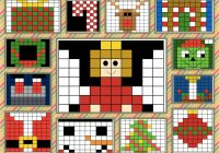 Christmas Grid Coloring With Math Mystery Puzzles Fun Activities And