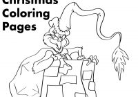 Christmas Grinch Coloring Pages With Printable Holidappy