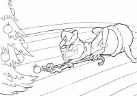 Christmas Grinch Coloring Pages With Stole Best The