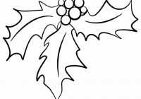Christmas Holly Coloring Pages With Printable For Kids