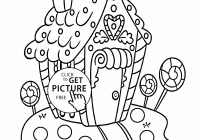 Christmas House Coloring Pages With New Sweet Free
