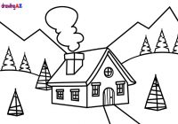 Christmas House Coloring Pages With Scene Page Book For Kids YouTube