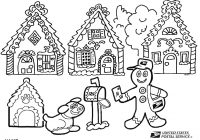 Christmas House Coloring Pages With Unique Disney Gingerbread Gallery