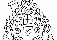 Christmas House Coloring Pages With Valid