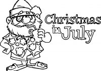 Christmas In July Coloring Pages With Free Library