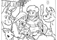 Christmas Jesus Coloring Pages With Baby In A Manger Collection Play Learn