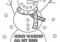 Christmas Jesus Coloring Pages With Church House Collection Blog Page For Sunday