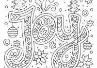 Christmas Joy Typography Coloring Page | Easy Coloring Activities ..