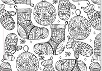 Christmas Landscape Coloring Pages With For Adults 2018 Dr Odd