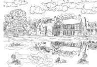 Christmas Landscape Coloring Pages With Grown Up Valid Beautiful Scenery Colouring
