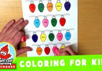 Christmas Leaf Coloring Pages With Lights Page For Kids Maple Learning Playhouse