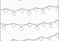 Christmas Light Coloring Sheet With Ideal Lights Pages Template