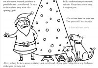 Christmas List Coloring Pages With Santa Pet Safety Page Covington Veterinary