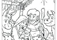 Christmas Manger Coloring Pages With Collection Of Baby Jesus In Download Them