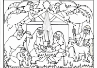 Christmas Manger Coloring Pages With High Quality Refrence Best