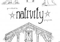 Christmas Manger Coloring Pages With Jesus In The Nativity Playset Craft