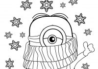Christmas Minion Coloring Pages With Best Funny Minions Quotes And Picture Cold Weather Happy New Year