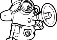 Christmas Minion Coloring Pages With Download Bob