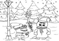 Christmas Minion Coloring Pages With LETS COLORING BOOK Cool Merry Minions For
