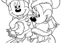 Christmas Mouse Coloring Pages With Mickey Page DISNEY COLORING PAGES