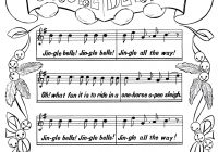 Christmas Music Coloring Pages With Printable Page Jingle Bells The Graphics Fairy