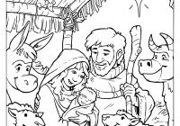 Christmas Nativity Coloring Pages For Adults With Collection Of Colouring Download Them And