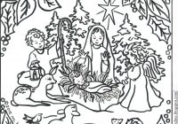 Christmas Nativity Coloring Pages For Adults With Pin By On Pinterest