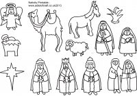 Christmas Nativity Coloring Pages Printable With Adult Of The Free In