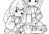Christmas Nativity Coloring Pages Printable With Collection Of Sheets Download Them And