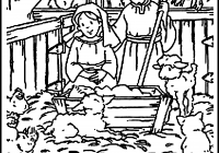 Christmas Nativity Coloring Pages Printable With Scene 2519080