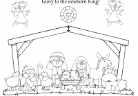 Christmas Nativity Coloring Pages Printable With Utw Png 3300 2550 Church Pinterest Sunday